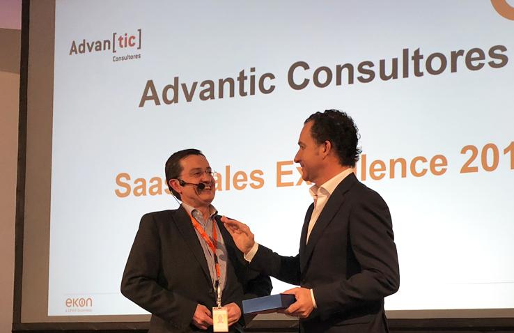 Advantic recoge el Saas Sales Excellence 2017 en el Kick off Partners 2018 de ekon