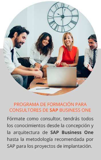Fórmate como Consultor de SAP Business One
