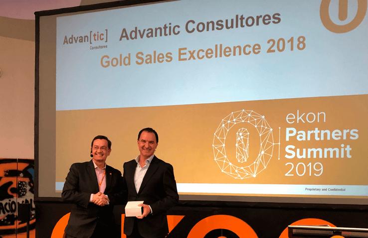 Ekon nos reconoce con el Gold Sales Excellence